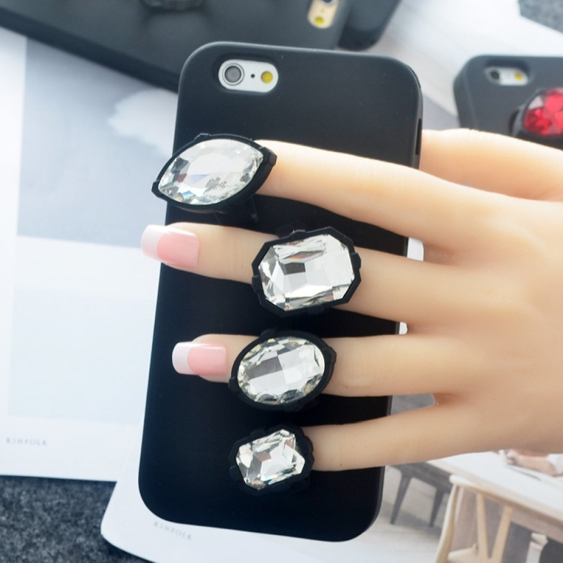 Finger Diamond Ring Case Cover Soft Silicone Protective Case for iPhone 6 plus6S plus