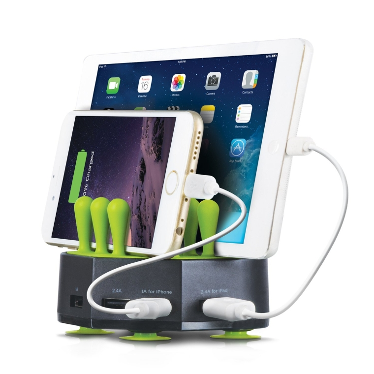 GRASS HUB Universal 4 Port 6.8A USB Charging Station Stand Dock for all Tablets Smartphone and USB Devices