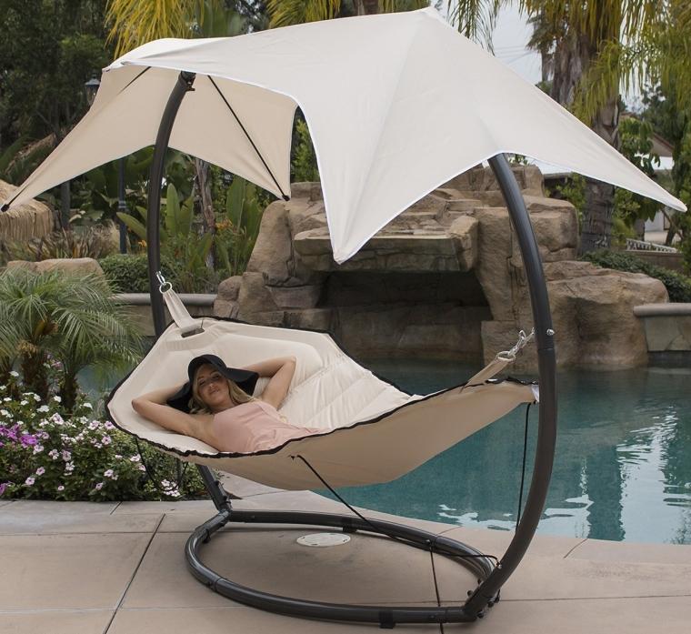 Hammock Swing with Sunroof Dual Canopy