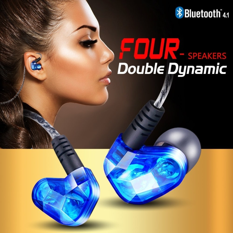 Hifi Wireless Bluetooth V4.1 Stereo Earphone Sport Running Headphone Studio Music with Mic