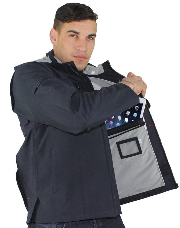 Jacket and Vest with 25 Pockets, Tablet iPad Pockets