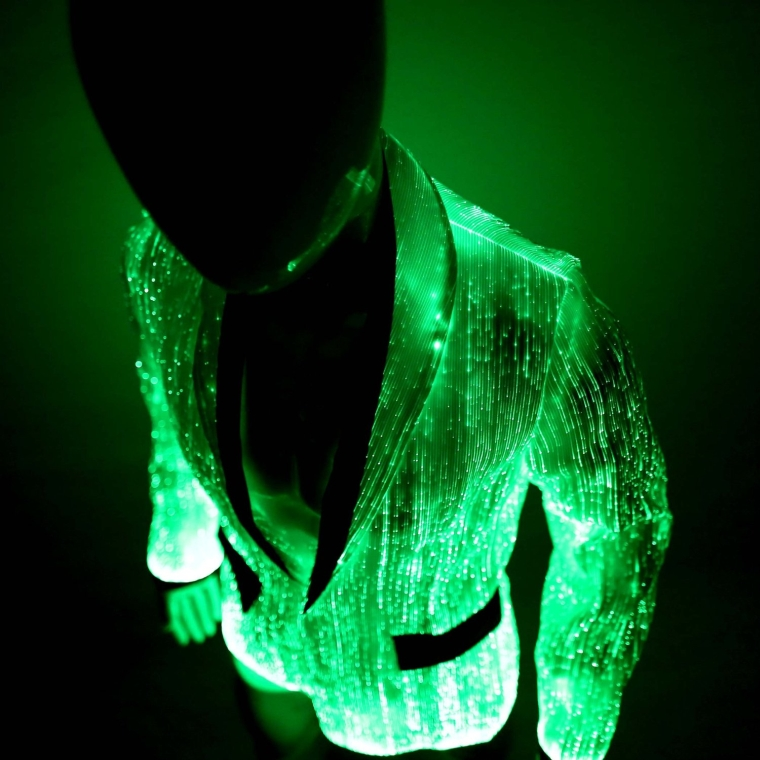 Led Fiber Optic Mens Jacket Light Up Clothing