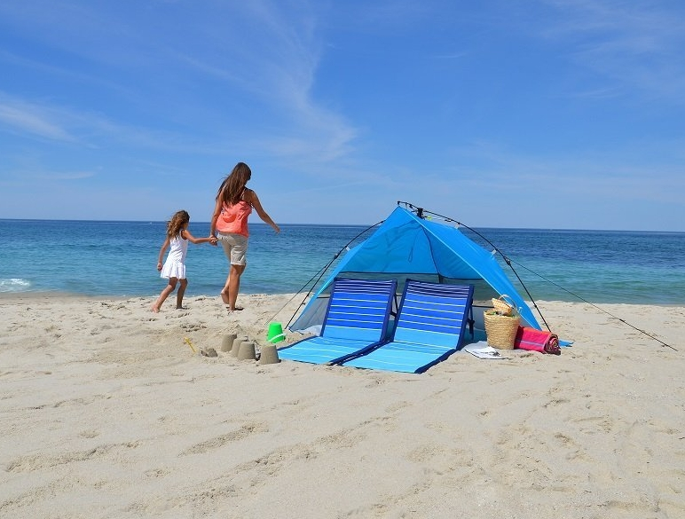 Lightspeed Outdoors Mini Pop Up Beach Tent Sun Shade
