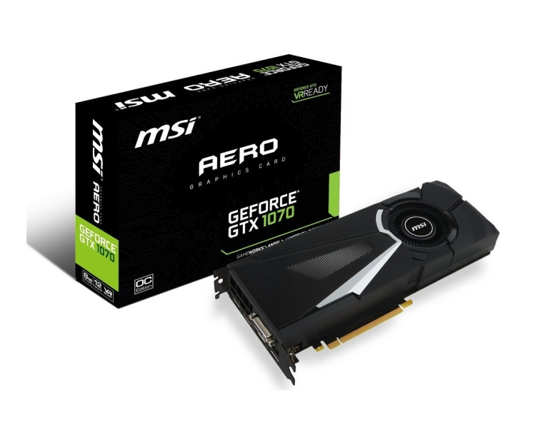 MSI Computer GeForce GTX 1070 AERO OC Graphics Cards