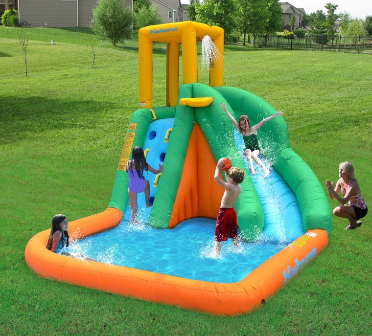 Magic Time Tornado Twist Inflatable Water Slide and Splash Pool
