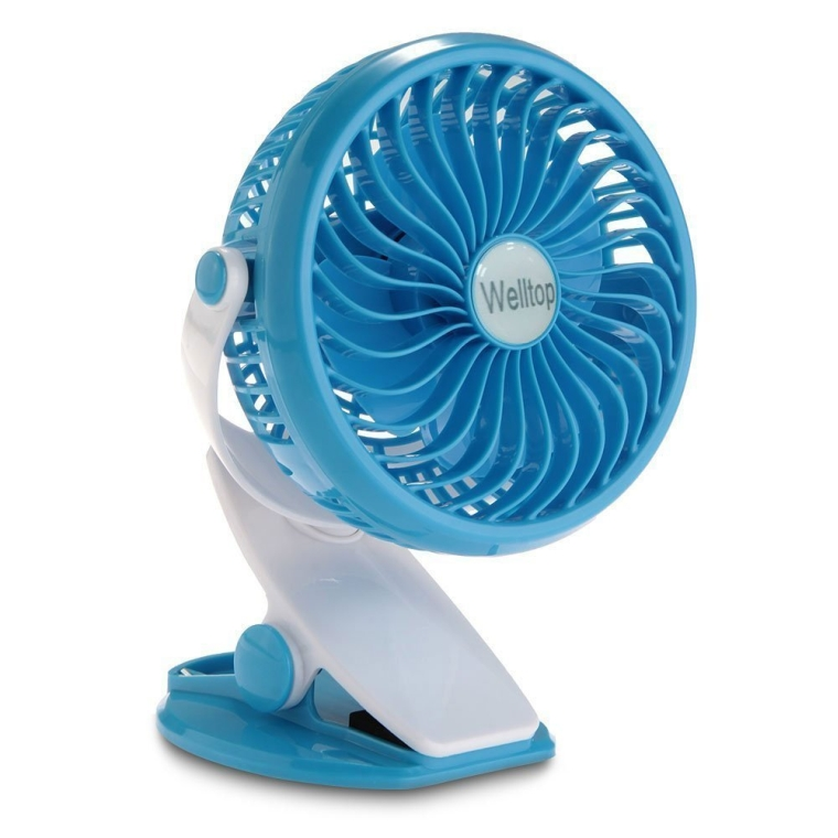 Portable Clip Fan Rotatable Clamp Fans USB or Battery Powered Table