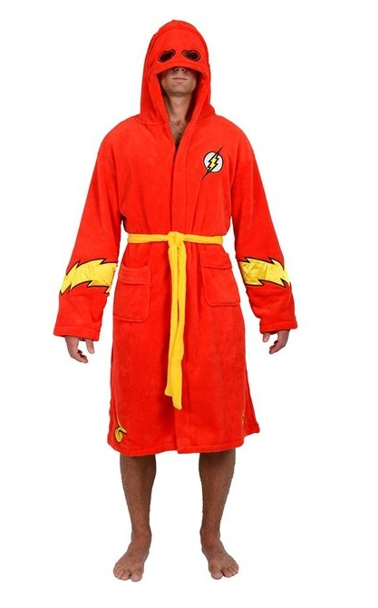 Red Flash Hooded Fleece Robe