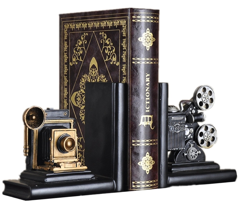 Retro Camera Bookends Racks Book Ends Sets Bookshelf Organizers