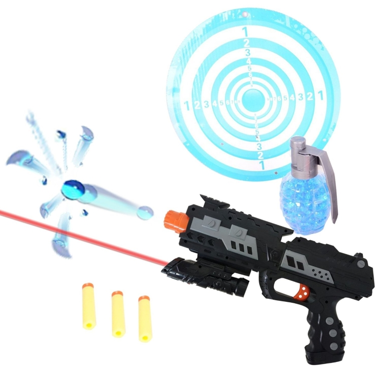 Shooting Gun Toy Foam Dart & Water Polymer Ball 2-in-1