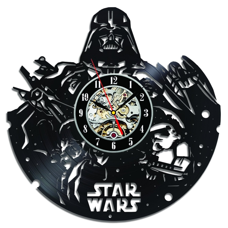 Star Wars Collectables Vinyl Record Wall Clock