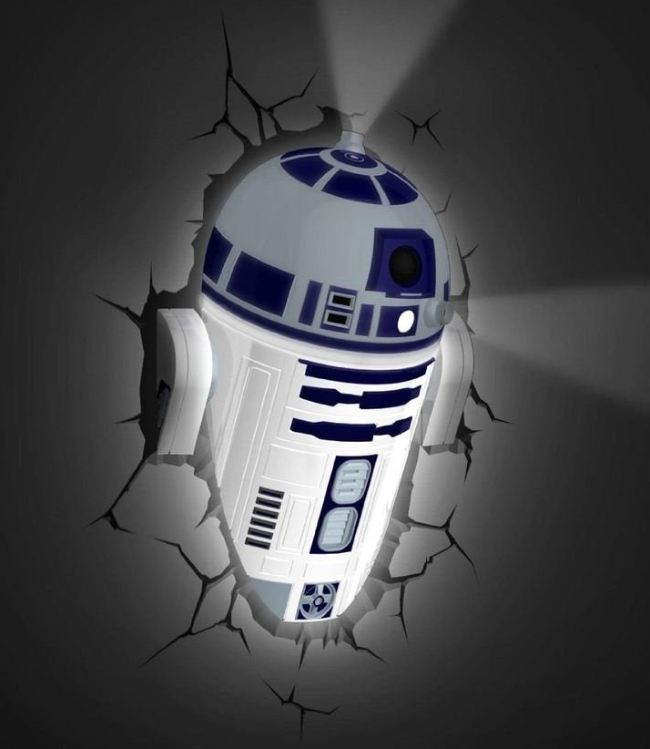 Star Wars R2 D2 Wall Light With