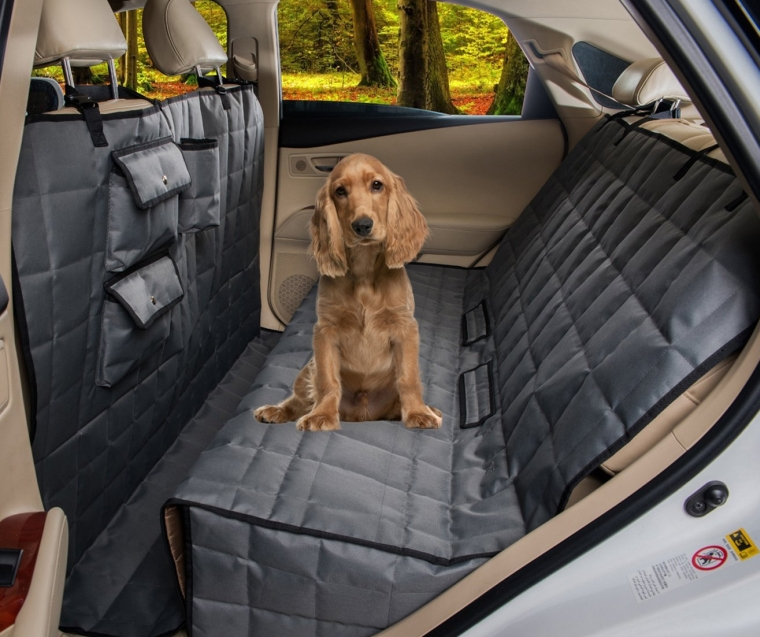 Total Coverage Waterproof Dog Pet Travel Back Seat Cover Pad