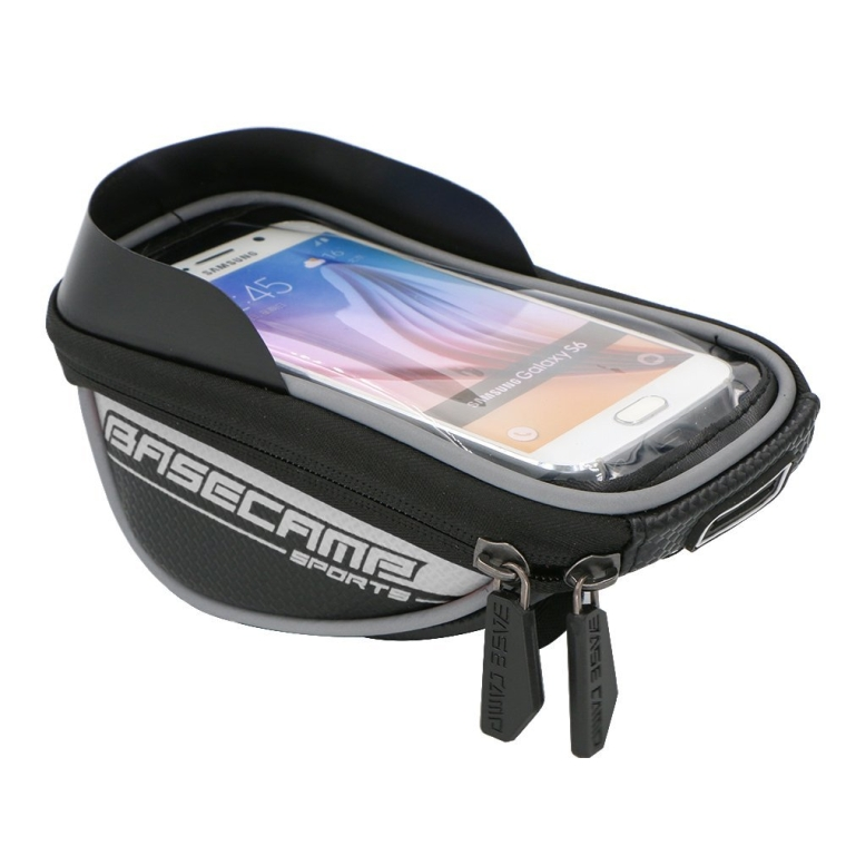 Waterproof Touch Screen Dual Zipper 2.5L Capacity Mountain Bike Road Bicycle Cycling Front Frame Bag