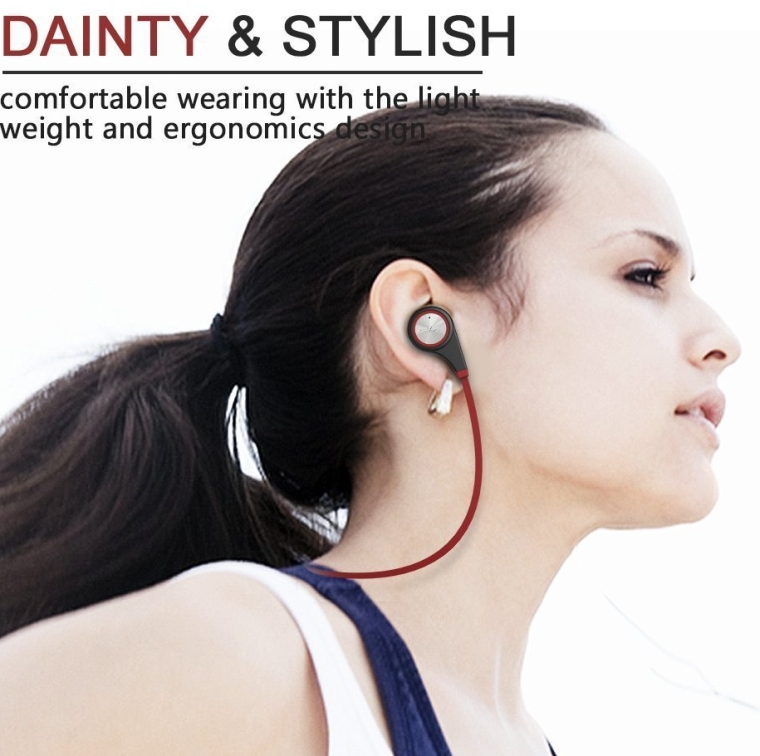 Wireless Earbuds Bluetooth Headset with mic Sports running Earphones