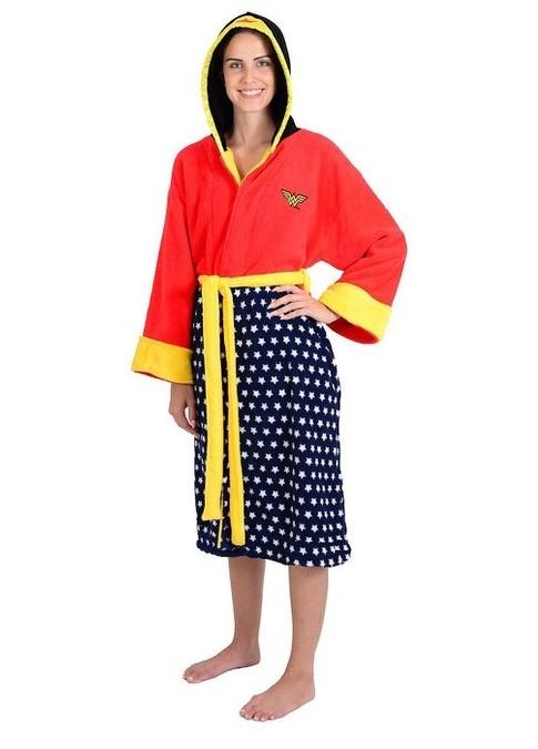 Wonder Woman Adult Hooded Fleece Robe