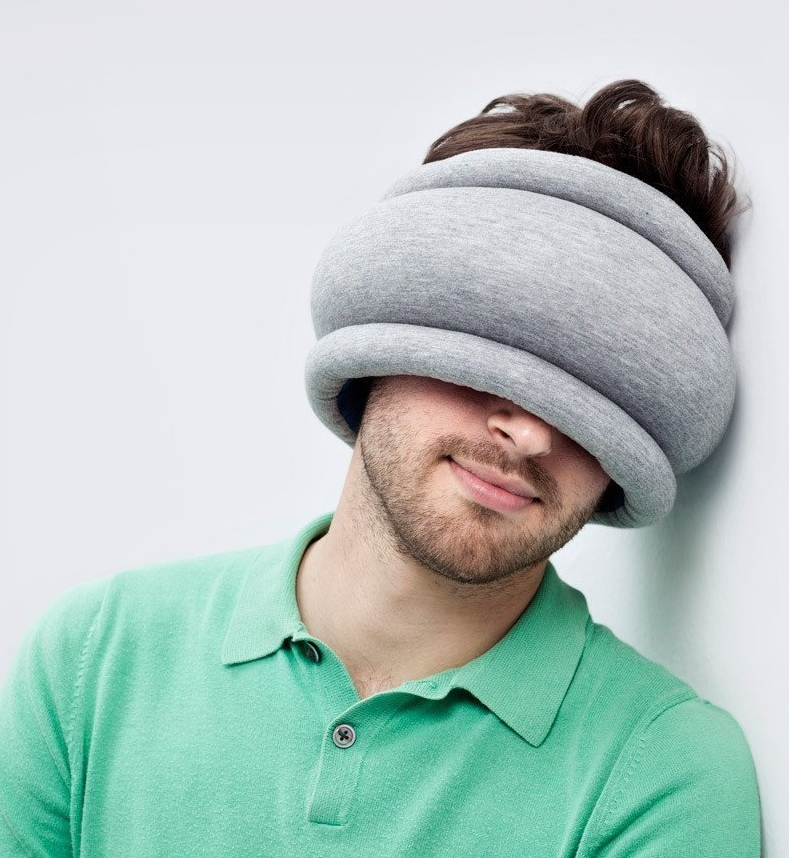 Banana Things Ostrich Pillow Light - Reversible