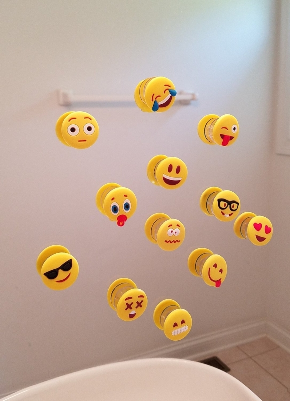 Emoji Charms with Suction 12 Pack