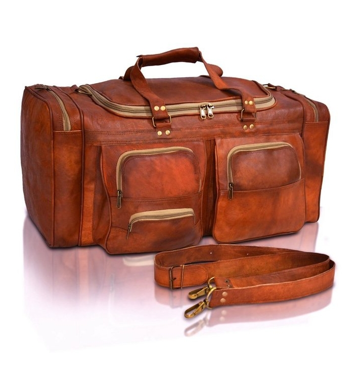 Men's Handmade Leather Bag Briefcase