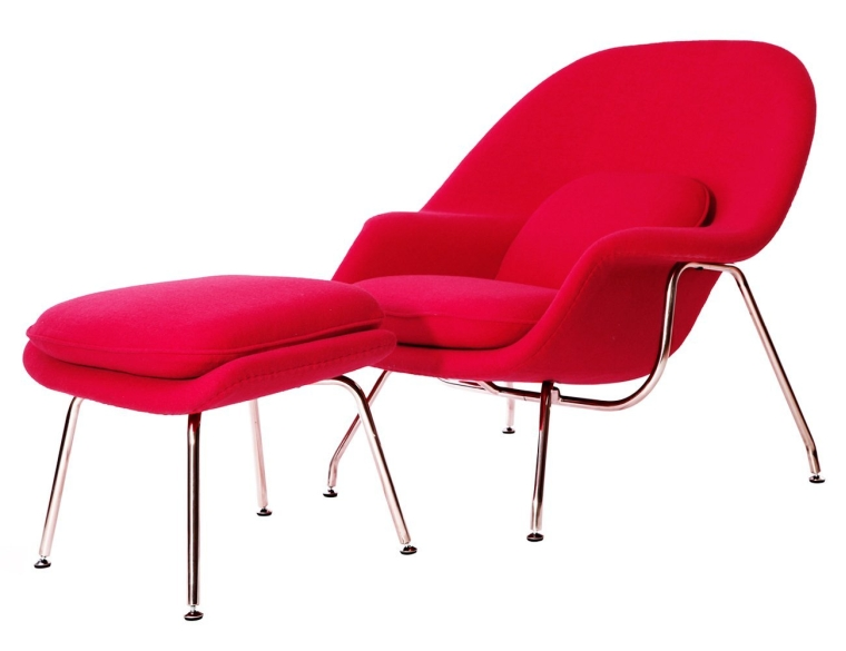 Saarinen Style Womb Chair with Ottoman