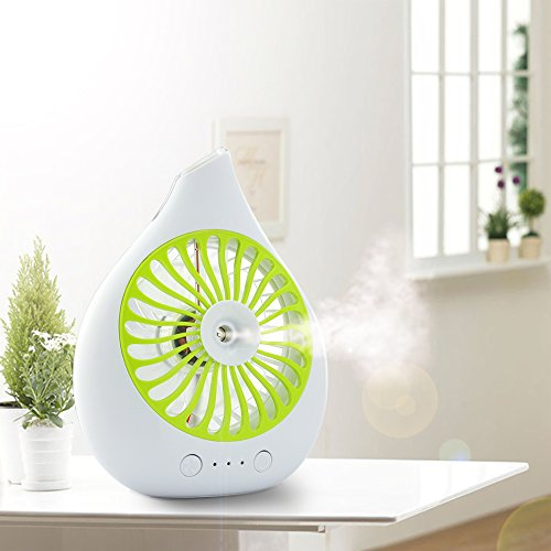 Touchshop Portable Mini Rechargeble Desktop Spray Fan