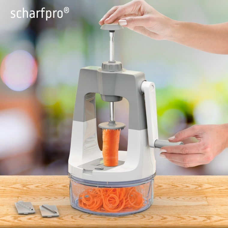 Vertical Self-Pressure Vegetable Spiralizer