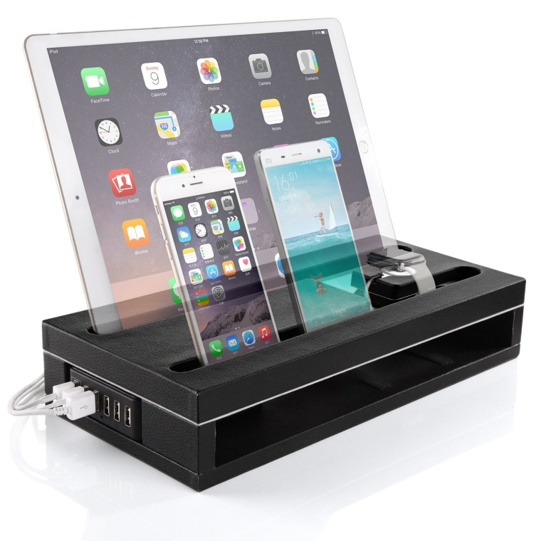iPad Pro Stand Charger 12.99.7 & Apple Watch Stand and iPhone Charging Dock Station