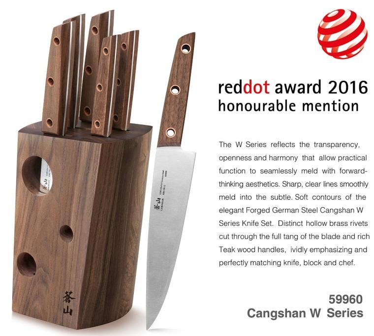 Cangshan W Series 59960 6-Piece German Steel Knife Block Set