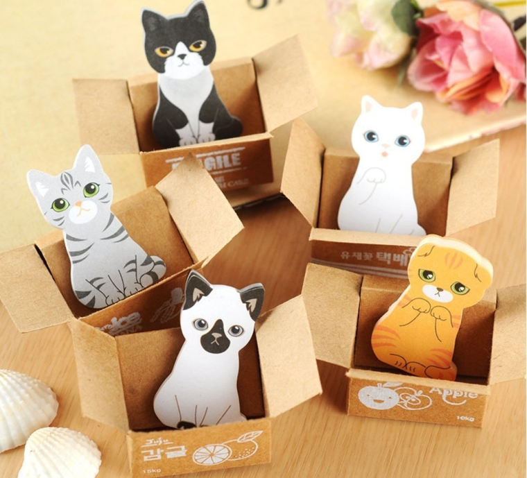 Cartoon Cats Sticky Notes