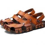 Dekesen Men's Casual Genuine Leather Sandal