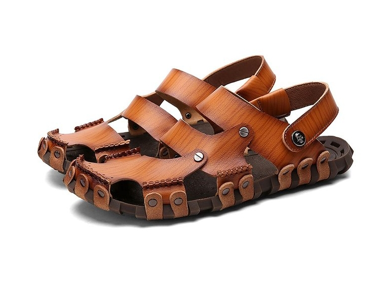 Dekesen Men's Casual Genuine Leather Sandal