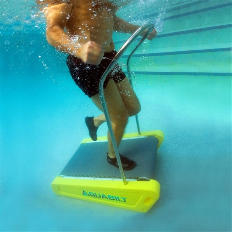 Excercise swimming pool treadmill w removable handrail 7 - Removable swimming pool handrails ...