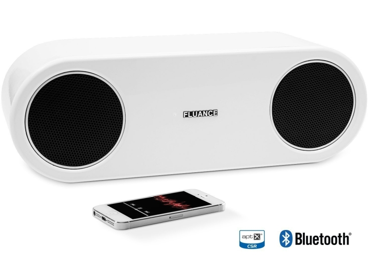 Fluance Fi30 High Performance Wireless Bluetooth Wood Speaker System with aptX Enhanced Audio