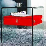 Furniture Bari Collection Lacquer NightstandEnd Table