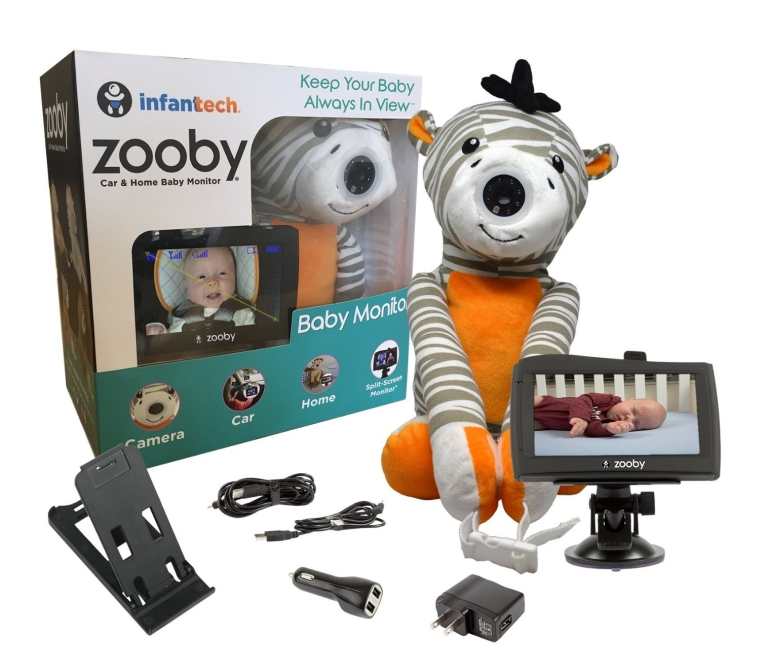 Infanttech Award Winning Zooby 4.3 Video and Audio Baby Monitor (Zebra)