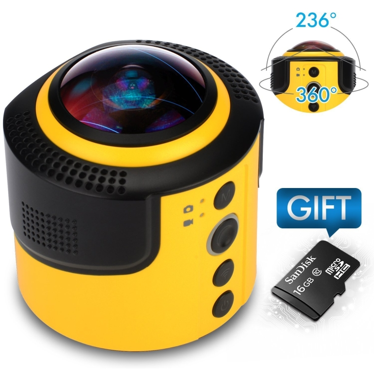 JoyPlus 360 Degree Spherical Panorama Action Camera