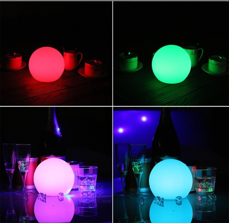 LED Color Changing Floating Ball Waterproof Mood Light Garden Decoration