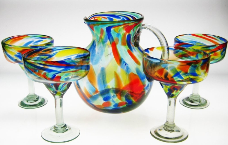 Mexican Margarita Glasses & Pitcher