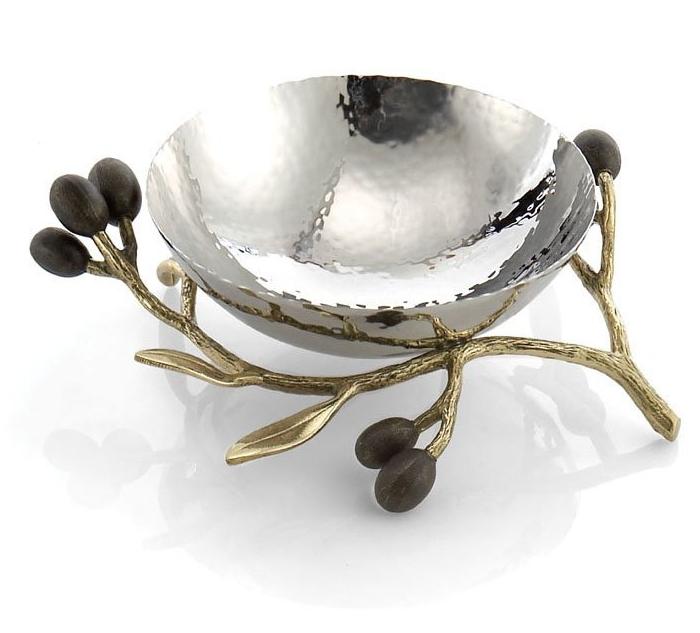 Michael Aram Olive Branch Nut Dish