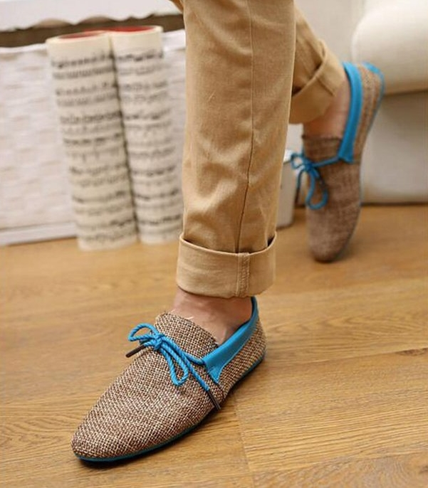 Mljsh Men's Casual Breathable Weave Slip On Loafers Driving Moccasins Boat Shoes