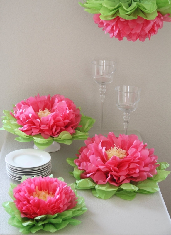 Paper Flower Pom (Set of 7) Color