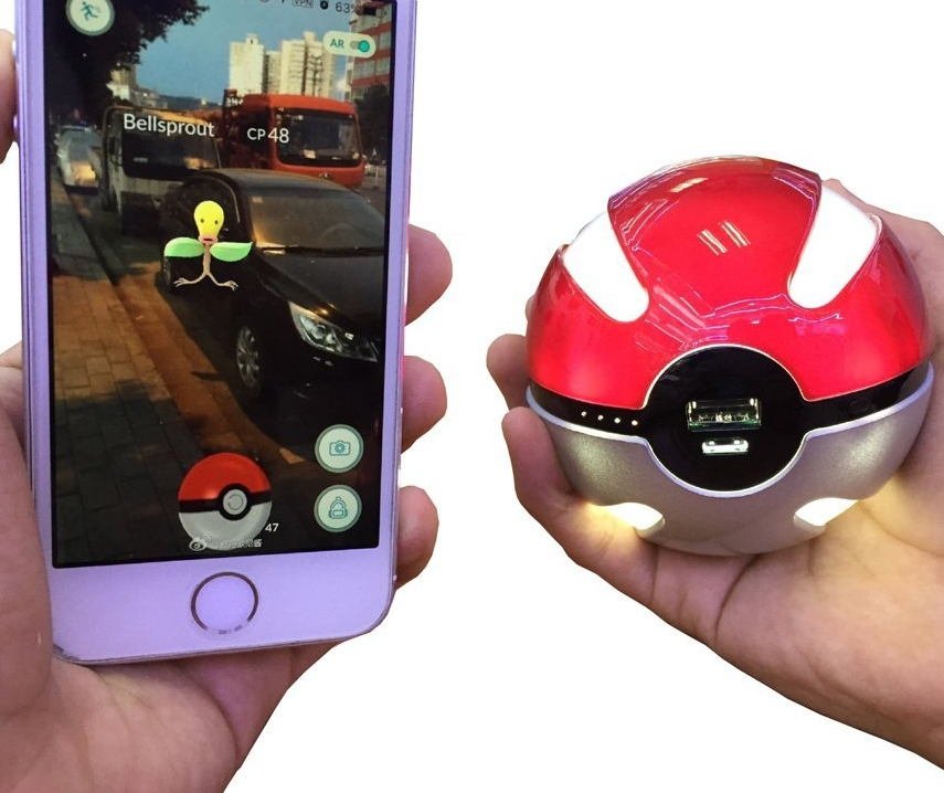Pokemon Go Ball Portable Charger PokeCharge LED Power Bank Pocket Monster Balls 3 Colors