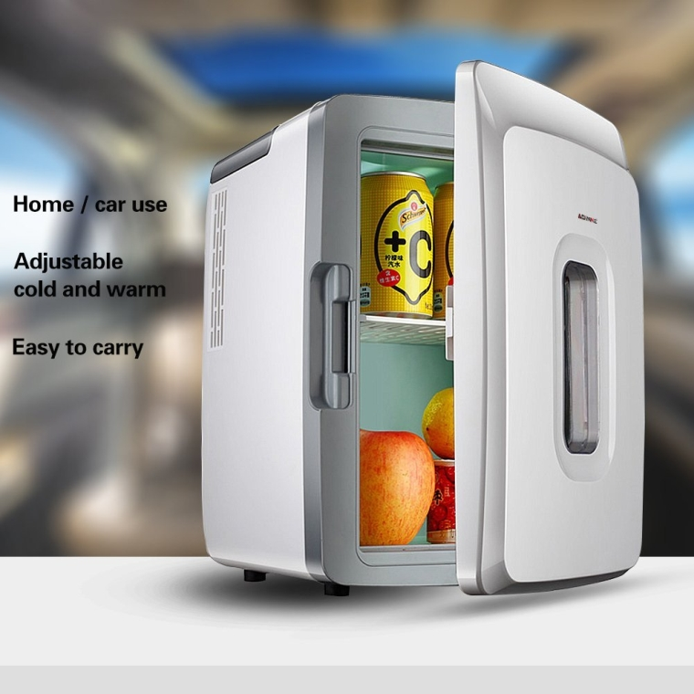 Portable with Handles Mini Fridge Cooler and Warmer Travel Compact Refrigerators