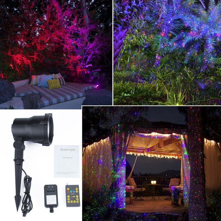 RGB Romantic Waterproof Outdoor Decorative Landscape Lawn Light Tree Light