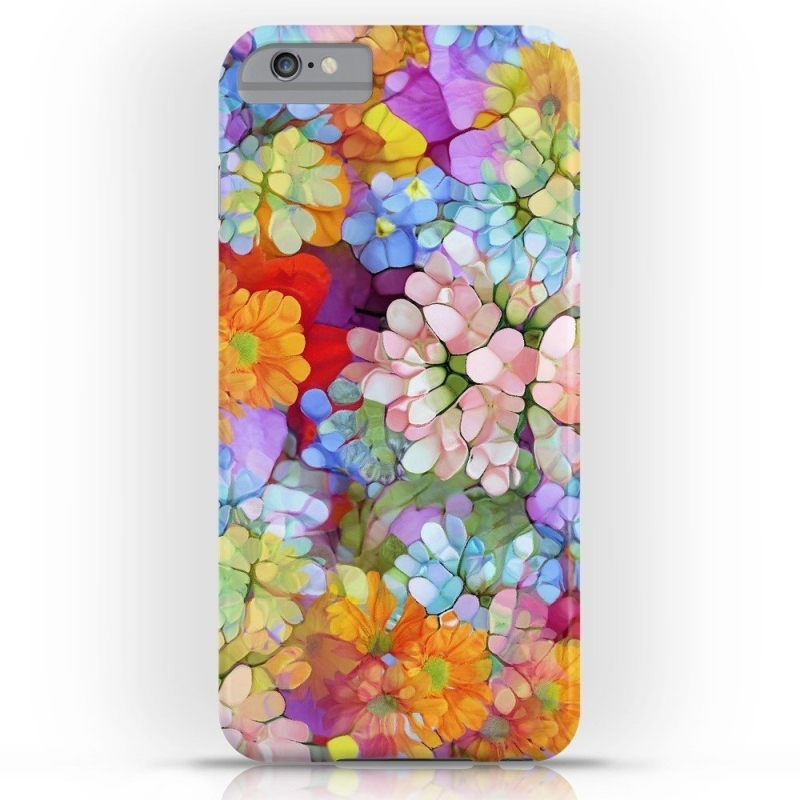 Rainbow Flower Shower Slim Case iPhone 6 Plus
