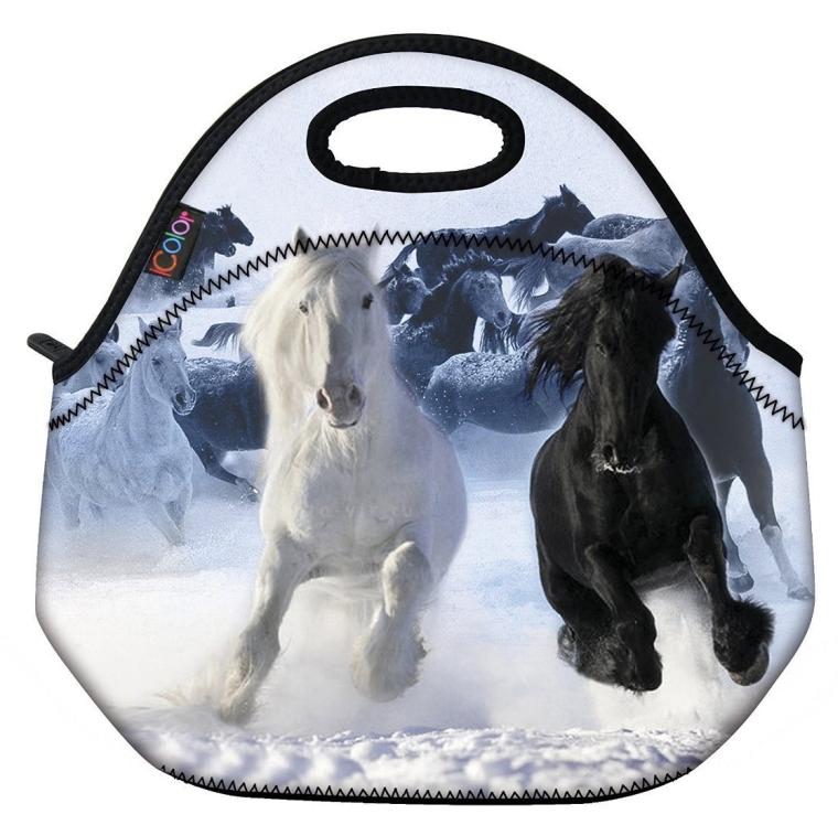Running Horse Boys Insulated Neoprene Lunch Bag