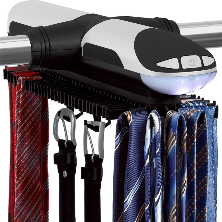 Sterline Automatic Motorized Revolving Tie and Belt Rack with Built in LED Light