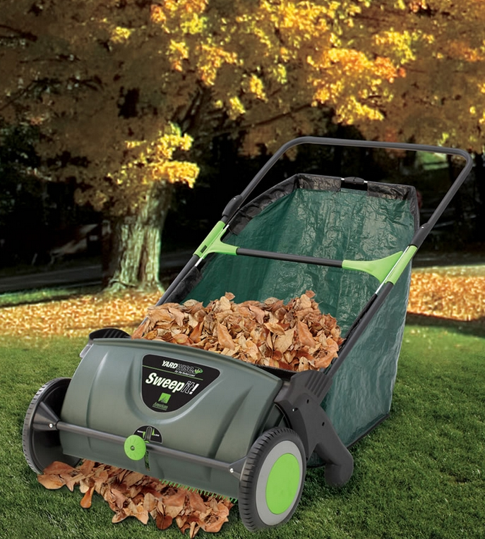 The Leaf Collecting Lawn Sweeper