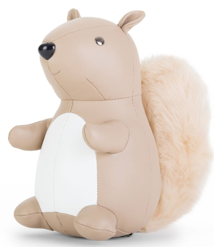 Zuny Squirrel Faux Leather Animal Bookend