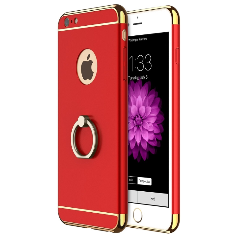 3 in 1 Ultra Thin Anti-Drop Scratch Resistant Shockproof Electroplate Frame Case Cover