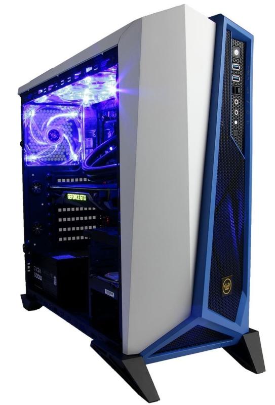 CUK Trion Custom Gaming PC (Liquid Cooled Intel i7-6700K, 32GB RAM, 500GB SSD + 4TB SSHD, NVIDIA GTX 1080 8GB, Windows 10)